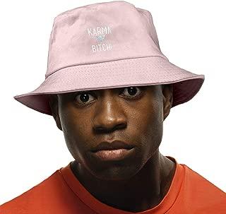 Adults Boys Girls Karma Bitch Flat Top Bucket Sun Hat Fishing Hat for