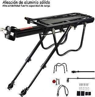 ROCKBROS Portaequipajes para Bicicleta de Aleaci/ón de Aluminio con Reflector Carga M/áxima de 75 kg