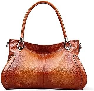 Women's Shoulder Bag Fashion Leather Handbag Ladies Retro Business Wild Messenger Bag(FM),A