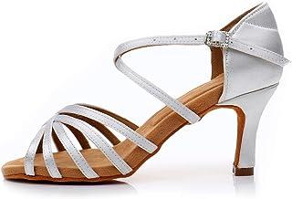 YKXLM Femme/&Fille Chaussons de Danse Latine Standard Salle De Bal Chaussures,Maquette FRLP1213
