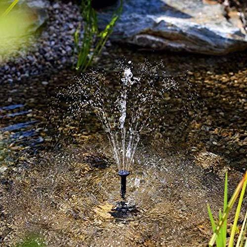 Kathariiy Solarpomp voor fontein op zonne-energie, 2,5 W, waterpomp zonder borstel, laag stroomverbruik, zonne-badkuip voor het zwembad