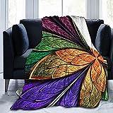 Mantas Hermosa Flor Fractal Multicolor Ultra Suave Manta De Micropolar Súper Suave para La Sala De Estar, Manta De Tiro De 50 'x 40'