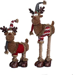 By Member's Mark 2-Piece Plush Moose Decor with Adjustable Legs