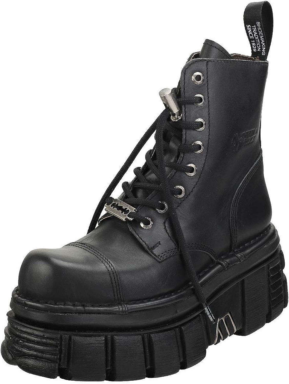 New Rock Damen New Mili Leder Stiefel