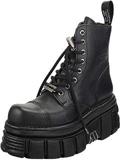 New Rock Combat Boots Mixte Adulte Bottes Plate-Forme