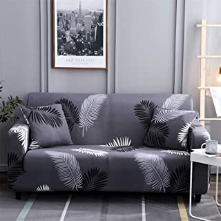 HOTNIU Printed Sofa Slipcover for 1 2 3 4 Seater Couch - Spandex Stretch Fit with Elastic Strap Sofa Cover - 1-Piece Easy-Going Anti-Wrinkle Slip Resistant Couch Cover (Pattern #HYY, Chair)