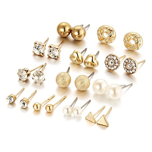 7801324e8 12 Pair Pack Sets Assorted Multiple Stud Earring Jewelry Set With Card For  Women Girls