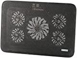 Callstel Notebook Cooler: Notebook-Kühler bis 43,2 cm (17'), 5 Ventilatoren, 1.800 U/min, 2X USB (Laptop Cooler)