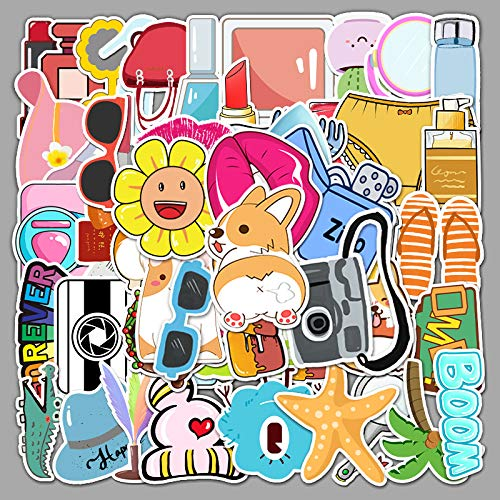HUNSHA 50 series de pegatinas de coche, viaje de equipaje, coche de motocicleta impermeable dibujos animados pegatinas decorativas