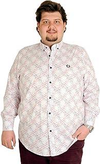Mode Xl-Büyük Beden Uzun Kol Poplin Noktali Likra Gomlek 18353 Beyaz-6Xl