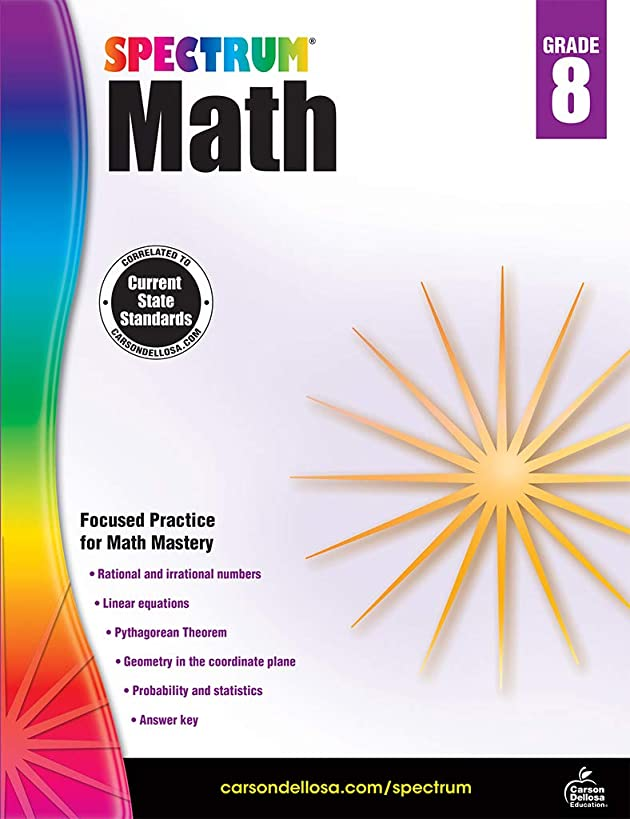 Spectrum Math Workbook, Grade 8