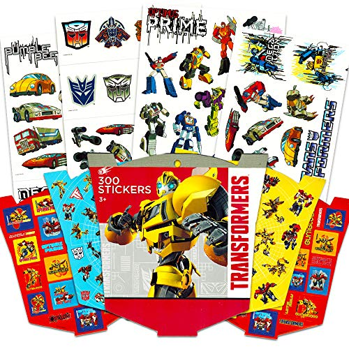 Transformers Tattoos and Stickers Party Favor Pack (75 Temporary Tattoos and 300 Stickers)