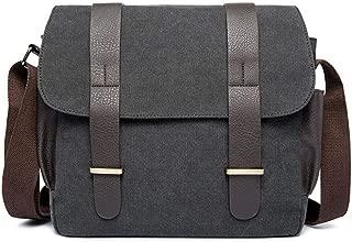 Men Bag Multifunction Toile Canvas Men Bag Travel Trendy College Shoulder Bag (Color : Gray, Size : S)