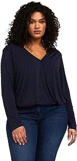 Fiorella Rubino : T-Shirt con Incrocio Davanti Donna (Plus Size)