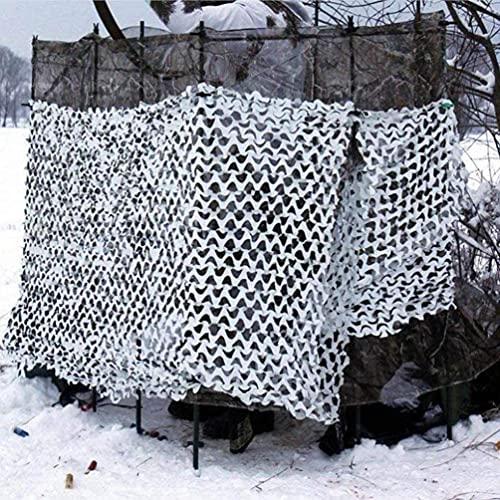 KEANCH Protección Camufar para Jardín, Red De Camuflaje Blanco, Redes De Camuflaje De Camuflaje Al Aire Libre, para Ciegos para Acampar Caza De Caza.(Size:2x6m(6.6 * 19.7ft))