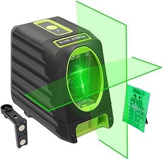 Huepar Nivel Láser Verde 45m con MODO DE PULSO (Pro Precisión: ± 2 mm/ 10m), Autonivelante Líneas Cruzadas con 150° vertical/horizontal, con 360° Rotación Soporte Magnético+Carta objetivo, BOX-1G