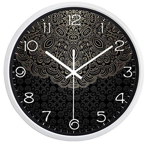 Reloj de Pared Reloj De Pared Creativo Lotus Totem De China, Lucky Cloud Clock para Hombres, Mujeres, Sala De Estar, 12 Pulgadas, B235W