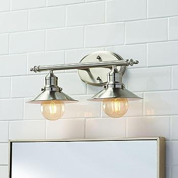 Home Decorators Collection 3 Light Brushed Nickel Retro Vanity Light Amazon Com