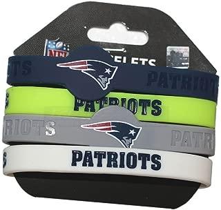 NFL Silicone Bracelets, 4-Pack