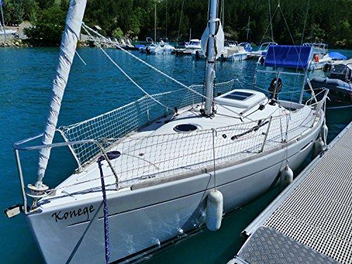 Konege Relingsnetz Schiffsnetz Schutznetz Reling MW 5cm weiß für Segelboot Yacht, Hochbett, Höhe 90cm, Länge wählbar, kpl. randverstärkt, 4,00€/m²
