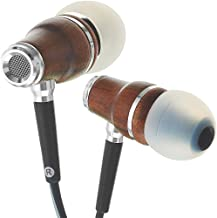 Symphonized NRG 3.0 Wood Earbuds Wired, In Ear Headphones with Microphone for Computer..