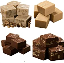 Betsy's Fancy Fudge Variety Box, 1 each Chocolate, Chocolate Walnut, Maple Walnut, Peanut Butter, 1 Pound in 4 wrapped pieces, Kosher Certified Ingredients,Gluten Free, GREAT GIFT!