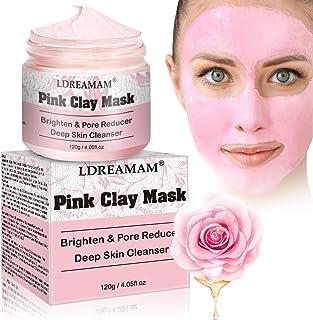 Pink Kaolin Tonmaske,Mitesser Maske,Anti Aging Mask,Blackhead Remover Maske,Gesichtsmaske anti Age, anti Akne,anti Falten,Öl-Kontrolle,Mitesserentferner Tiefenreinigung