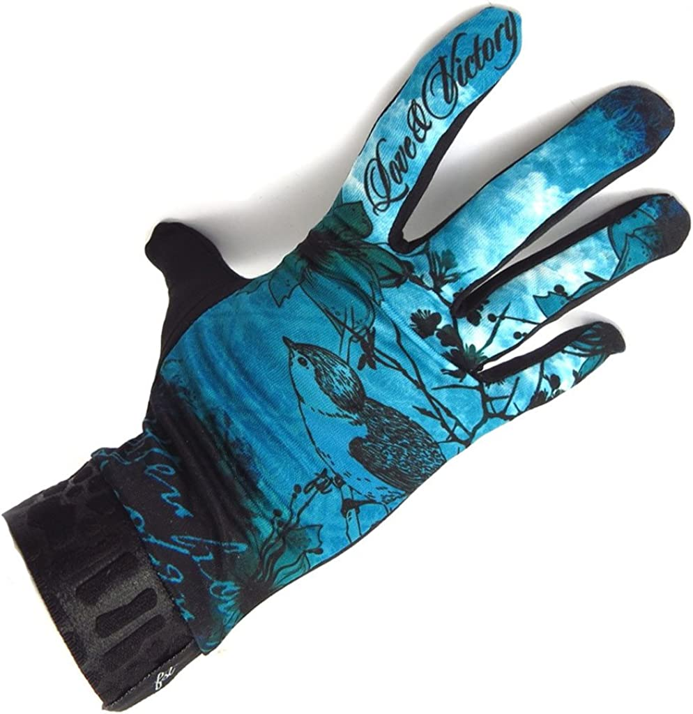 french touch' gloves 'Blue Bird' turquoise.