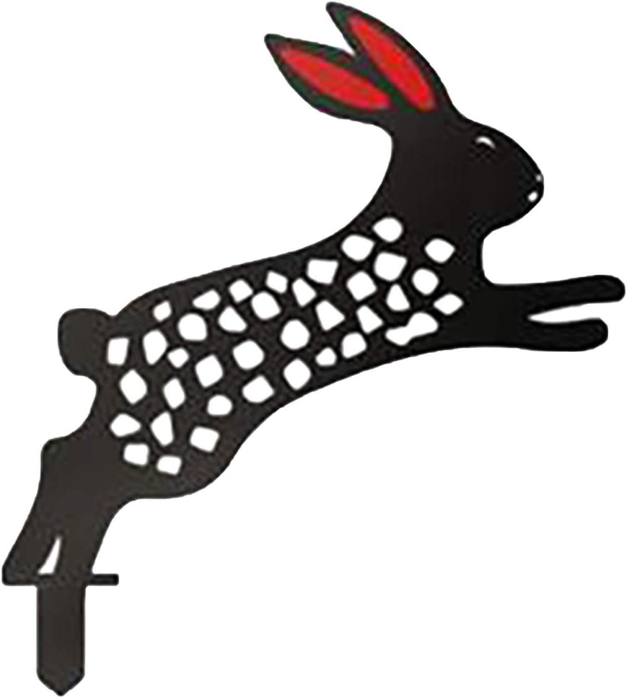 decoraci/ón de conejo exterior Conejo yard Art exterior jard/ín c/ésped estacas de metal decoraci/ón conejo patio yard paisaje BK01 XeinGanpre