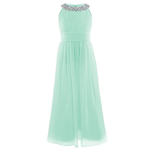 Long Chiffon Mint Green Prom Dress Amazoncom