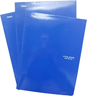 "Five Star 2-Pocket Folder, Colored Folders for 3-Ring Binders, for Home School Supplies & Home Office, 12 ½ "" x 9 ½, Pack ..."