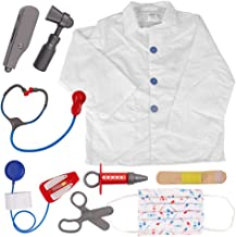 TOPTIE Doctor Nurse Surgeon Role Play Set Dress Up Hospital Costumes Set for Kids Great Gift Idea