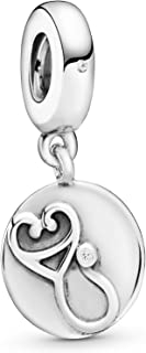 Pandora Jewelry Nurse Sign and Stethoscope Dangle Cubic Zirconia Charm in Sterling Silver