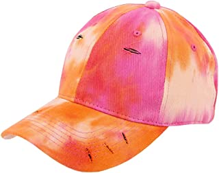 Surkat Tie Dye Baseball Hat Rainbow Ponytail Adjustable Cap Snapback for Women Men