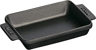 STAUB Cast Iron Mini Rectangular Baker, 5.75-inch, Black Matte