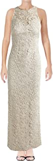 Womens Metallic Gown Dress chmpgne 6