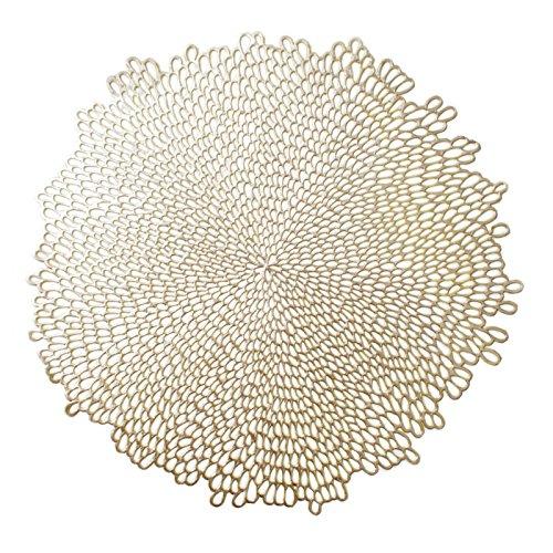 Benson Mills, Mantel de Vinilo, Dorado (Bloom-gold), 4 piezas