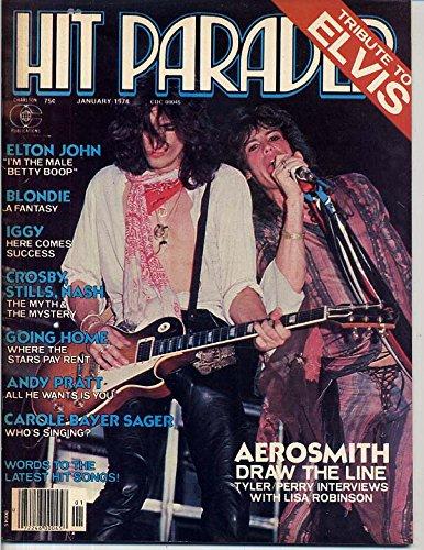 Hit Parader Magazine AEROSMITH Elvis Presley Tribute KEITH RICHARDS CENTERFOLD Carole Bayer Sager BLONDIE January 1978 C (Hit Parader Magazine)