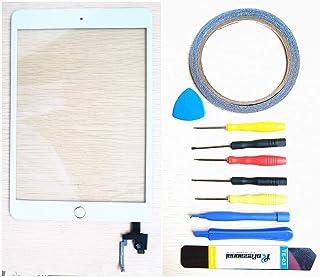 قطع غيار جديدة لجهاز iPad Mini/Mini 2 / Mini 3 / Mini 4 Glass Touch Screen Digitizer + مجموعة أدوات إصلاح (Mini 3 أبيض)