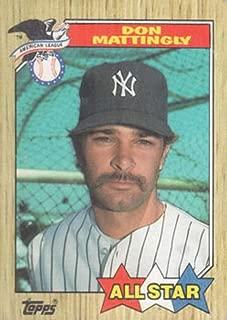 Don Mattingly 1987 Topps All-Star Baseball Card #606