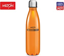Thermosteel Duo Deluxe Insulated Water Bottle 18/8 Stainless Steel Double Walled for Hot & Cold (Orange, 25 oz (750 ml))