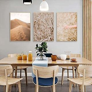 Herbe Champ Blé Plante Désert Mur Art Affiche Impression Nordique Nature Paysage Toile Peinture Scandinave Salon Décor À L...