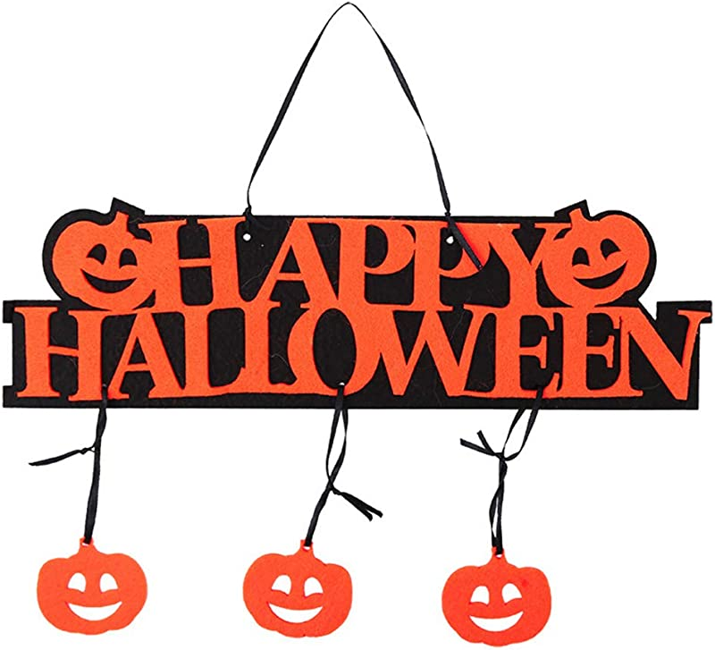 Lightclub Happy Halloween Pumpkin Hanging Door Plate Tag Showcase Bar Shopping Mall Decor Customizable Personalised Cute Funny Door Signs For Office Pumpkin