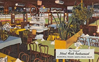 Santa Cruz California Municipal Wharf Ideal Fish Restaurant Postcard K100041