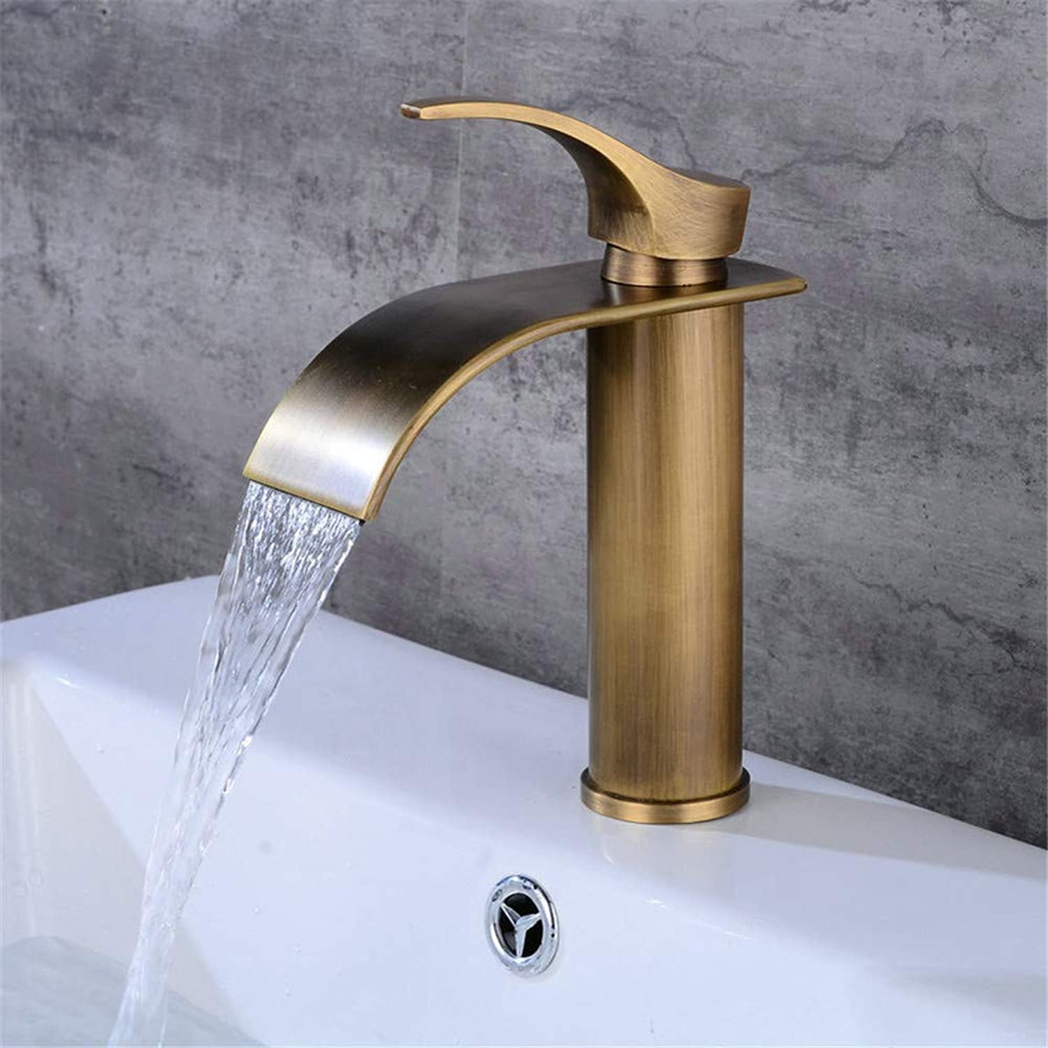 Oudan Single-Joint Spring Kitchen Faucet Hot and Cold Vegetables Basin Faucet Single Hole Faucet (color   -, Size   -)