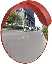 Espejo De Tráfico, MAGT Plástico Gran Angular Calzada Seguridad Vial Convexo Espejo De Tráfico Resistente A La Intemperie Con Accesorios De Hardware De Montaje (45 Cm)