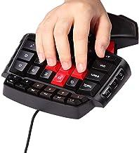 MOSTOP Keybaord One Handed Keyboard Portable Mini Gaming Keypad Ergonomic Game Controller for LOL/Wow/Dota (Gaming Keyboard)