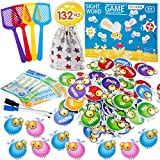 Sight Word Games Educational Toy Sight Word Swat Game for Kindergarten Homeschoo for Kids Ages 4-8, Visual, Tactile and Auditory Learning,with Fly Swatters ,Word Charts & Storage Bag