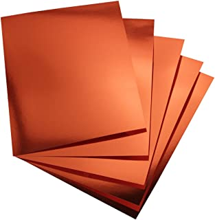 Hygloss 25 Red Copper, 8.5 x 11-Inch Metallic Foil Board Sheets