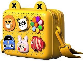 Richgv Borsa a tracolla impermeabile con tracolla a tracolla per bambina, 7,2x5,5x2,8 pollici (giallo)…